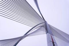 Arkitektonisk design på en bro royaltyfria foton