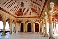 Arkitektonisk detalj av Amber Fort i Jaipur, Rajasthan, Indien Royaltyfri Fotografi