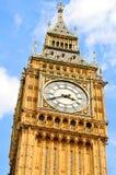Arkitektonisk detalj av Big Ben Arkivfoto