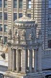 Arkitektonisk detalj av byggnad, Chicago, Illinois Fotografering för Bildbyråer