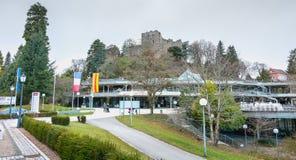 Arkitektonisk detalj av den medeltida slotten av Badenweiler arkivbild