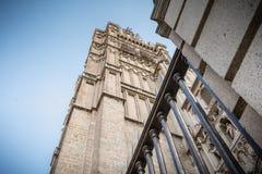 Arkitektonisk detalj av den St Mary s domkyrkan av Toledo i Spanien fotografering för bildbyråer