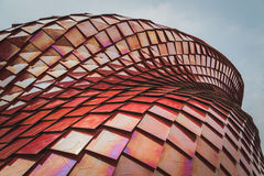 Arkitektonisk detalj av den Vanke paviljongen på expon 2015 i Milan, det Royaltyfri Foto