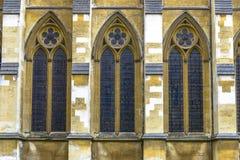 Arkitektonisk detalj av den Westminster abbotskloster i London Arkivbilder