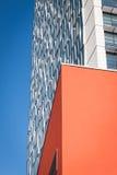 Arkitektonisk detalj av en modern byggnad Arkivbilder