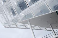 Arkitektonisk detalj av en modern byggnad i Hamburg Arkivfoto