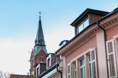 Arkitektonisk detalj av evangelisten Kirche Paul Church royaltyfria bilder