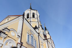 Arkitektonisk detalj av kyrkan av uppståndelsen, Ryssland royaltyfri bild