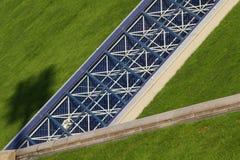 Arkitektonisk detalj av Palaisen Omni-Sport de Bercy Royaltyfria Bilder