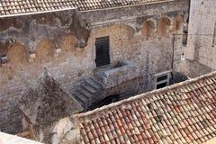 Arkitektonisk detalj, Dubrovnik arkivfoton