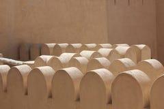 Arkitektonisk detalj för Nizwa fortslott Arkivfoton