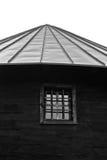 Arkitektonisk detalj från gammal träkyrka på berget Bobija Royaltyfria Foton