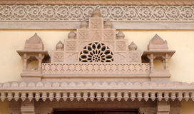 Arkitektonisk detalj i Jaipur stadsslott Royaltyfri Bild