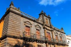 Arkitektonisk detalj i San Cristobal de la Laguna Arkivbild