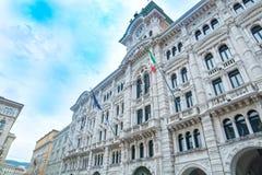 Arkitektonisk detalj i Trieste royaltyfria foton