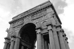 Arkitektonisk detalj på båge - Genoa Landmarks arkivfoto