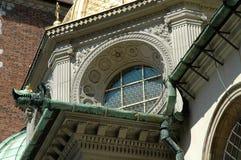 Arkitektonisk detalj på den Wawel domkyrkan i Krakow, Polen Royaltyfri Bild