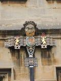 Arkitektonisk detalj på Oxford universitetet för högskola för St John ` s arkivfoton