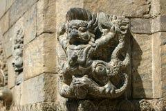 Arkitektonisk lättnad i Katmandu, Nepal Royaltyfri Bild