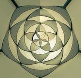Arkitektonisk modell för abstrakt illustration 3D Arkivbilder