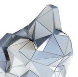 Arkitektonisk modell för abstrakt metall på vit Royaltyfria Bilder