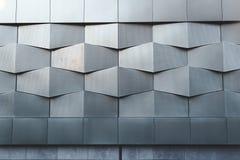 Arkitektonisk modell för abstrakt svart metallvägg Royaltyfri Foto