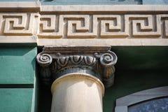 Arkitektonisk pelare i den grekiska stilen Royaltyfria Bilder