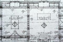 arkitektonisk ritning Arkivbilder