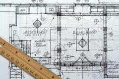 arkitektonisk ritning Royaltyfria Bilder