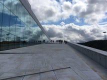 Arkitektonisk sammansättning, Oslo operahus, Norge Arkivfoto