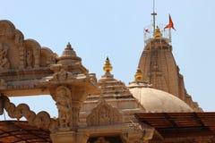 Arkitektonisk skymt?verblick av indiska tempel arkivbilder