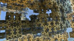 Arkitektonisk struktur för fractal 3D royaltyfria bilder