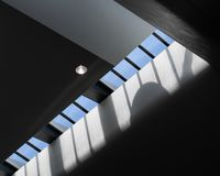 Arkitektonisk takfönstermodell royaltyfria foton