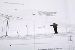 arkitektonisk teckning Arkivfoton