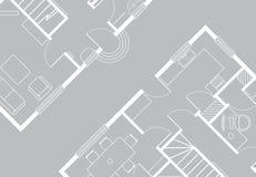 arkitektonisk teckning Arkivfoto