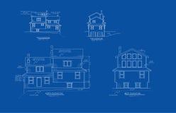 arkitektonisk teckningshöjd Fotografering för Bildbyråer