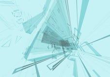 Arkitektonisk tolkning för abstrakt begrepp 3d Royaltyfri Fotografi