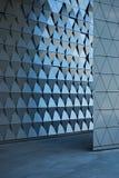 Arkitektonisk väggdesign på den tomma lobbyen Arkivfoton