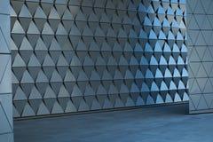 Arkitektonisk väggdesign på den tomma lobbyen Arkivbild