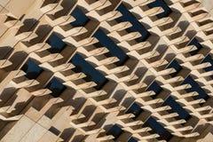 Arkitektoniska abstrakta geometriska modeller och linjer Arkivbild