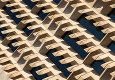 Arkitektoniska abstrakta geometriska modeller och linjer Arkivfoto