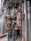 Arkitektoniska beståndsdelar av Strasbourg Arkivbilder