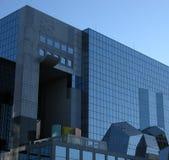 arkitektoniska blåa strukturer Fotografering för Bildbyråer