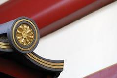 arkitektoniska buddha details taket till Royaltyfria Bilder
