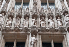 arkitektoniska byggnadselement royaltyfria foton