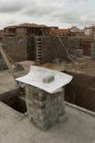 Arkitektoniska byggnadsplan på plats Royaltyfri Fotografi