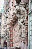 Arkitektoniska detaljer av Lvov Lviv, Ukraina Royaltyfri Foto