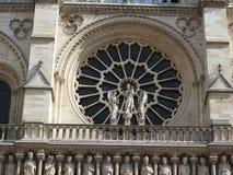 Arkitektoniska detaljer av Notre Dame de Paris Notre Dame Cathedral - den mest berömda gotiska Roman Catholic Cathedral 1163-1345 arkivfoton