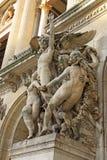 Arkitektoniska detaljer av operamedborgaren de Paris - storslagen opera, Paris, Frankrike Royaltyfria Foton