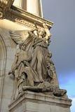 Arkitektoniska detaljer av operamedborgaren de Paris - storslagen opera, Paris, Frankrike Arkivbilder